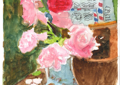 Flowers with Mail by Bill Puryear