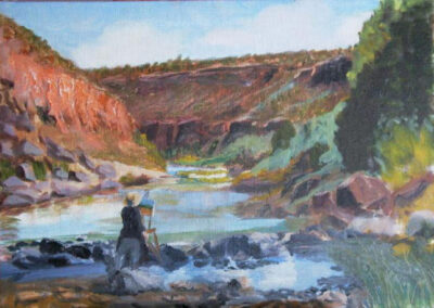 Painting in the Gorge of the Rio Grande by Bill Puryear