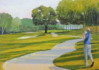 Sixteenth Hole at Fairvue by Bill Puryear